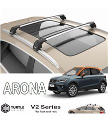 SEAT Arona SUV MPV Turtle Roof Bars Racks Set Upper T-track with QuickAcces
